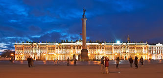 Saint-Petersburg. Russia. People on The Palace Square Royalty Free Stock Images