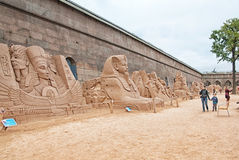 Saint-Petersburg. Russia. People on The Sand Festival Royalty Free Stock Photography