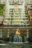 Saint Petersburg. Russia, Peterhof, Grand Cascade Fountai Stock Photos