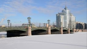 Saint-Petersburg. Russia. Sampsonievsky Bridge stock video