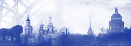 Saint Petersburg Russia skyline silhouette Royalty Free Stock Photo