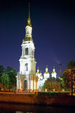 Saint Petersburg Russia. St. Nicholas Naval Cathedral at night in St. Petersburg, Russian Federation Royalty Free Stock Photography