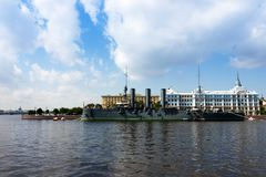 Cityscape of Saint-Petersburg. Saint-Petersburg, Russia - 08.22.2017 Summer cityscape of culture capital of Russia - Saint-Petersburg at sunny day Royalty Free Stock Images