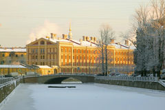 Saint-Petersburg. Russia. View of the barracks of the Naval Guard Crew on Griboyedov canal Stock Photography