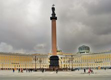 Saint Petersburg, Russia. View of Dvortsovaya Square Royalty Free Stock Images