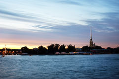 Saint Petersburg (Russia) in the white nights Royalty Free Stock Images