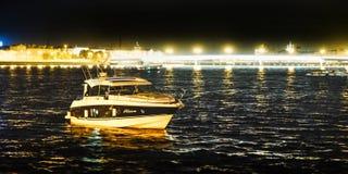 Saint-Petersburg. RUSSIA. 08.20.2018. Yachts on the NEVA river. royalty free stock photo