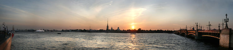 Saint Petersburg's Cathendral panorama Stock Photos