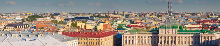 Saint Petersburg from Saint Isaac's Cathedral in summer Stock Images