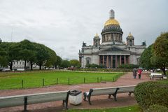 Saint Petersburg. CIRCA OCTOBER, 2017: Isaakievskiy Sobor in  at daytime. It is the largest Russian Orthodox cathedral (sobor) in the city Stock Image