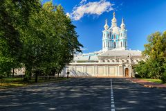 Saint Petersburg - Smolny Cathedral, Russia royalty free stock photo