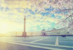 Saint Petersburg at spring sunset Royalty Free Stock Images