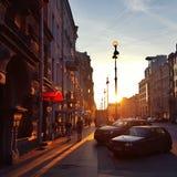 Saint Petersburg. Street evening sunlight Stock Image