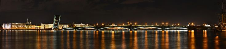Saint Petersburg, Troitsky Bridge Royalty Free Stock Photography