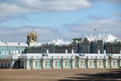 Saint Petersburg, Tsarskoye Selo Pushkin, Russia. Catherine`s Palace, the State Hermitage Museum Winter Palace, Tsarskoye Selo Pushkin, south of St. Petersburg stock photo