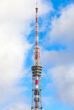 Saint-Petersburg TV tower over cloudy sky Royalty Free Stock Photography
