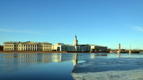 Saint-Petersburg, University Embankment Stock Images