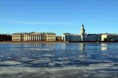 Saint-Petersburg, University Embankment Stock Photography