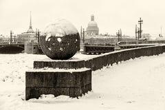 Saint Petersburg Vasilievsky Island Spit Royalty Free Stock Images
