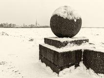 Saint Petersburg Vasilievsky Island Spit Stock Image
