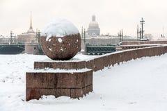 Saint Petersburg Vasilievsky Island Spit Royalty Free Stock Photography