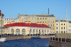 Saint Petersburg, view from the Big stables bridge Stock Image