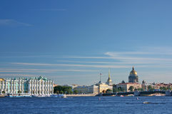 Saint-Petersburg. View of the Palace quay Royalty Free Stock Photos