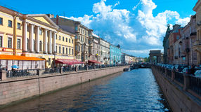 Saint Petersburg water canals Stock Images