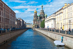Saint Petersburg water canals Stock Photos