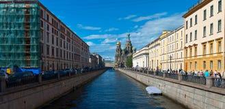 Saint Petersburg water canals Stock Images