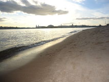 Saint Petersburg welcome to Neva river Royalty Free Stock Photo