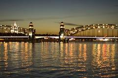 Saint-Petersburg. White Nights. Bridge on the Neva royalty free stock photo