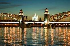 Saint-Petersburg. White Nights. Bridge on thr Neva royalty free stock photos