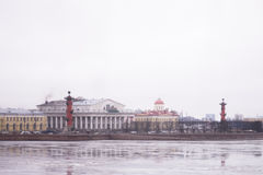 Saint Petersburg, winter Palace Embankment Royalty Free Stock Photography