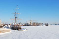 Saint-Petersburg  in winter Stock Photo