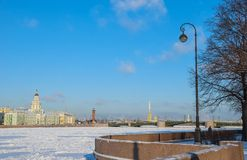 Saint Petersburg in winter Stock Images