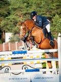 SAINT PETERSBURGO 5 DE JULHO: Rider Aleksandr Belekhov no chacal Ugl Fotografia de Stock Royalty Free