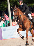 SAINT PETERSBURGO 5 DE JULHO: Rider Andrius Petrovas em Complimento Fotografia de Stock