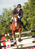 SAINT PETERSBURGO 5 DE JULHO: Rider Andrius Petrovas em Zuko Imagens de Stock