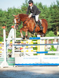 SAINT PETERSBURGO 5 DE JULHO: Rider Andrius Petrovas em Zuko S Imagens de Stock