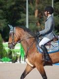 SAINT PETERSBURGO 5 DE JULHO: Rider Gunnar Klettenberg em Lanse S dentro Imagens de Stock
