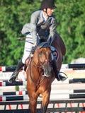 SAINT PETERSBURGO 5 DE JULHO: Rider Gunnar Klettenberg em Ulrike R mim Fotografia de Stock Royalty Free