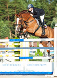 SAINT PETERSBURGO 5 DE JULHO: Rider Kristupas Petraitis em Barichela Foto de Stock Royalty Free
