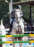 SAINT PETERSBURGO 6 DE JULHO: Rider Maxim Kryna no desafiador 37 dentro Fotografia de Stock