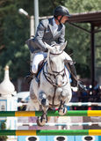 SAINT PETERSBURGO 6 DE JULHO: Rider Maxim Kryna no desafiador 37 dentro Foto de Stock Royalty Free