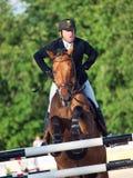 SAINT PETERSBURGO 5 DE JULHO: Rider Valdemaras Zukauskas em Domien mim Fotos de Stock Royalty Free