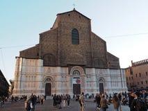 Saint Petronio Cathedral in Maggiore square Stock Photos