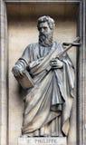 Saint Philip the Apostle. Madeleine church in Paris Stock Photography