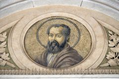 Saint Philip the Apostle. Mosaic in the basilica of Saint Paul Outside the Walls, Rome, Italy Stock Photo