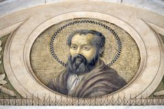 Saint Philip the Apostle. Mosaic in the basilica of Saint Paul Outside the Walls, Rome, Italy Stock Photography